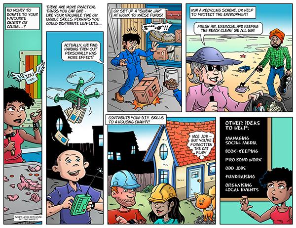 Draw The Line comic strip