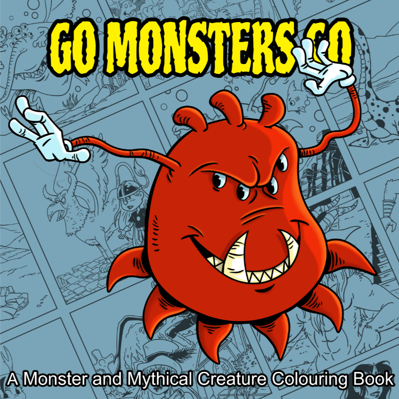 Go Monsters Go Colouring Book