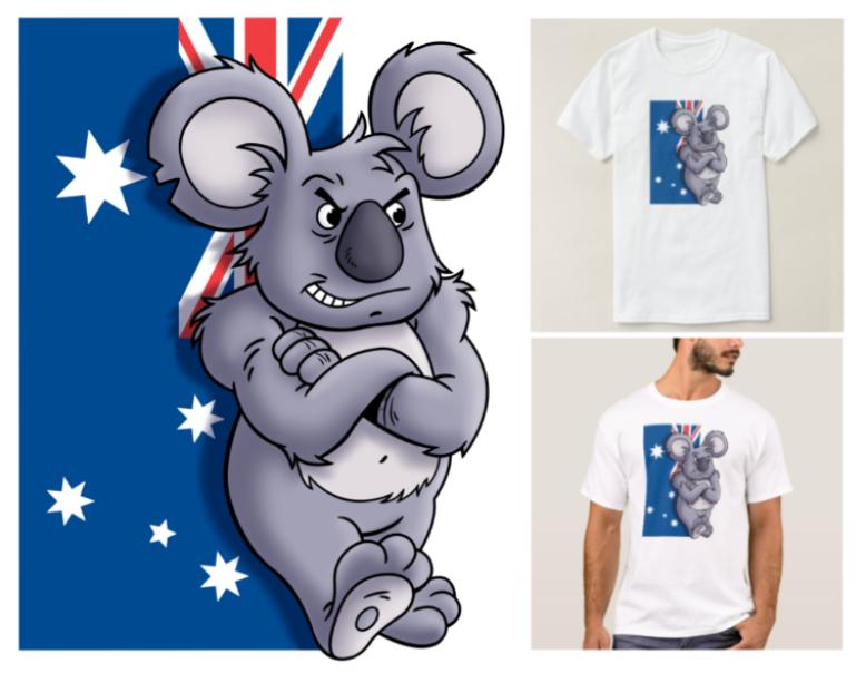 Patriotic Koala T Shirt