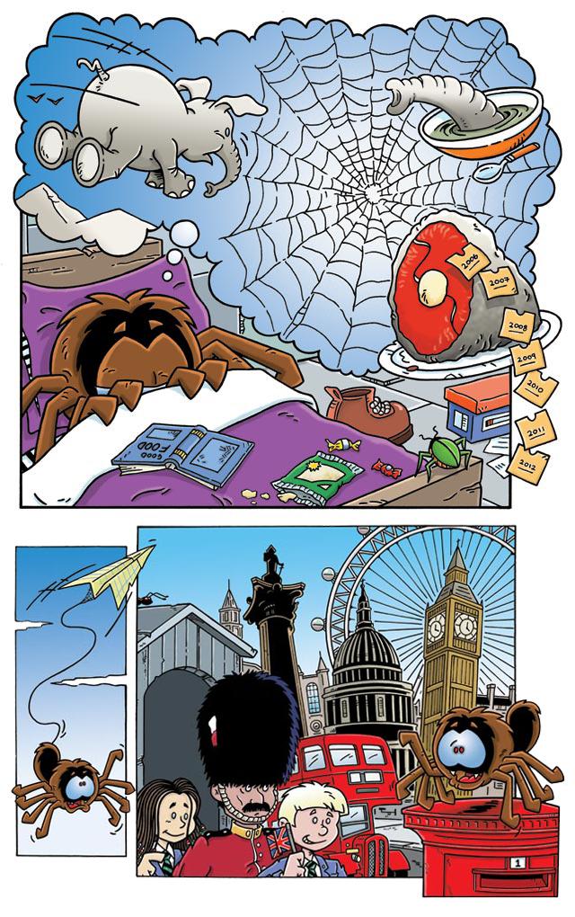 Spike the spider from Magic: Engelsk for barnetrinnet