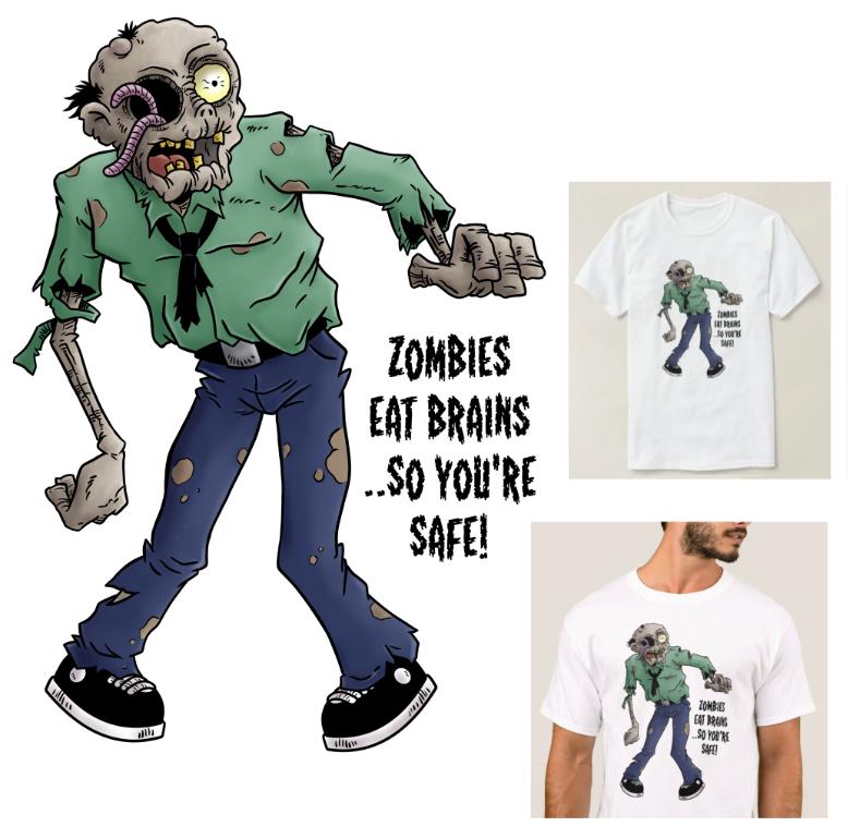 Zombies Eat Brains T Shirt